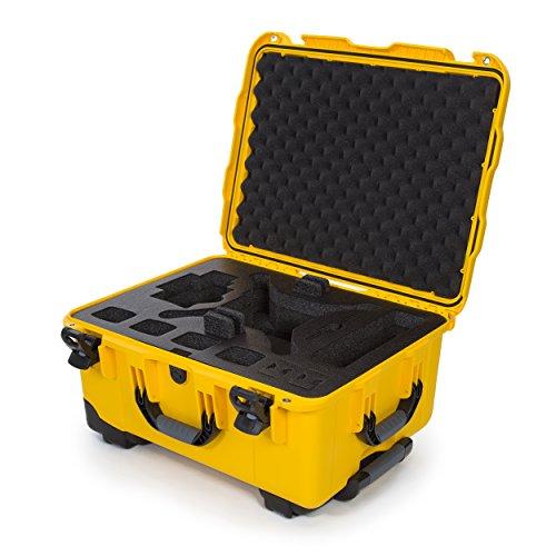 Nanuk DJI Drone - Custodia rigida impermeabile con ruote e inserto in schiuma personalizzata per DJI Phantom 4/Phantom 4 Pro (Pro+), Advanced (Advanced+) e Phantom 3 - 950-DJI44, colore: Giallo