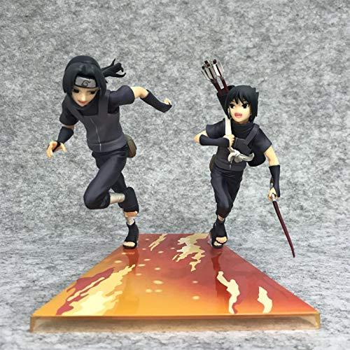 MEILILI Modelo de Figura de Disfraz de Anbu de la Infancia de Naruto Boy Uchiha Itachi Sasuke