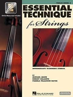 Essential Technique for Strings (Essential Elements Book 3): Violin by Gillespie, Robert, Tellejohn Hayes, Pamela, Allen, Michael (2004) [Paperback]