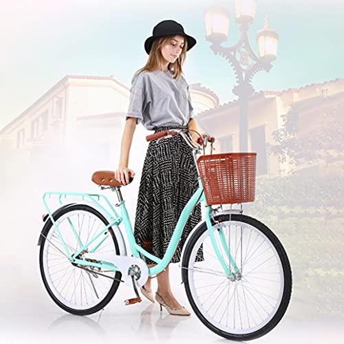 Beach Cruiser Bike Women 26', 26 inch Light Blue Women's Complete Cruiser Bikes Bicycles for Women with Bike Baskets