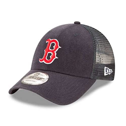 finest selection a6451 b489e Boston Red Sox New Era Trucker 9FORTY Adjustable Snapback Hat Navy