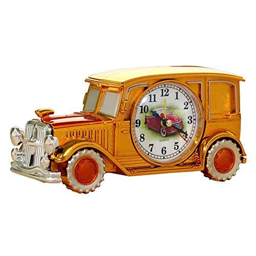 Tienda de damai Reloj de Mesa plástico Dorado clásico Reloj Despertador Puntero Digital nostálgico Digital (Color : Silver)