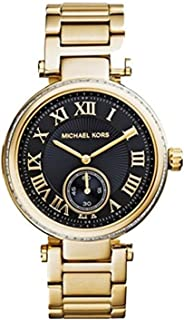 MK5989 Ladies Skylar Black Gold Watch