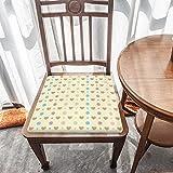 Cojín de asiento de espuma viscoelástica, diseño de lunares con corazones rosados, tela duradera, cojín cuadrado universal, cubierta de silla para decoración del hogar