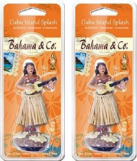 Bhama & Co. 06353 Oahu Island Hula Girl Auto Air Freshener - Quantity 2