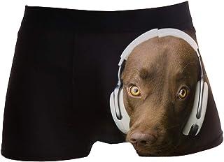 hengpai Tiger Claw Scratches Prints Men's Boxer Briefs Soft Underwear Covered Waistband Short Leg