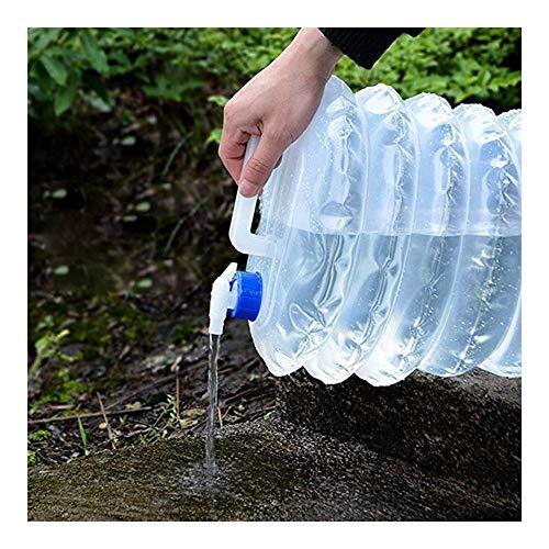 LSXIAO Tragbare Wasserflasche, Trinkwasserfässer, Lebensmittelqualität PE Kompressibel Und Faltbar Geeignet Für Camping Und Picknick (Color : Klar, Size : 5L)