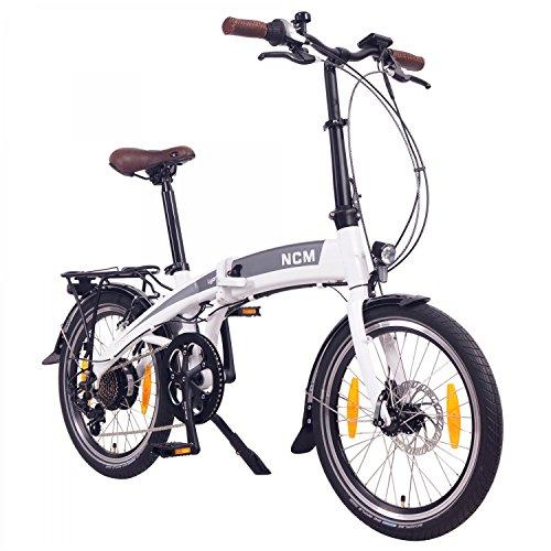 "NCM Lyon E-Faltrad, Klapprad, E-Bike, Elektrofahrrad, 250W Bafang, 8Ah 288Wh Li-Ion Rahmenakku, 20\"" (Weiß)"