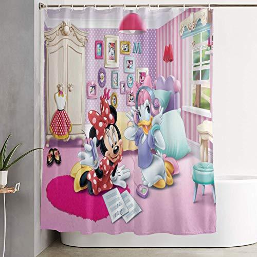 "SINOVAL Shower Curtain,Minnie Mouse (192),Waterproof Durable Polyester Fabric Home Dorm Decor Bath Curtains for Bathroom Bathtub Hooks Included 72""x72"""