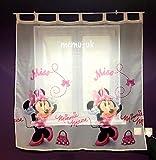 Gardinen MINNIE MOUSE IN PINK Teil 225cm B x 160cm L Kinderzimmer Vorhang DISNEY