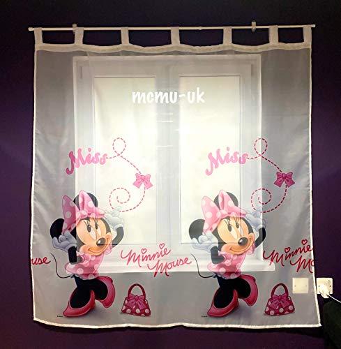 Polontex Gardine mit Schlaufen Minnie Maus 1