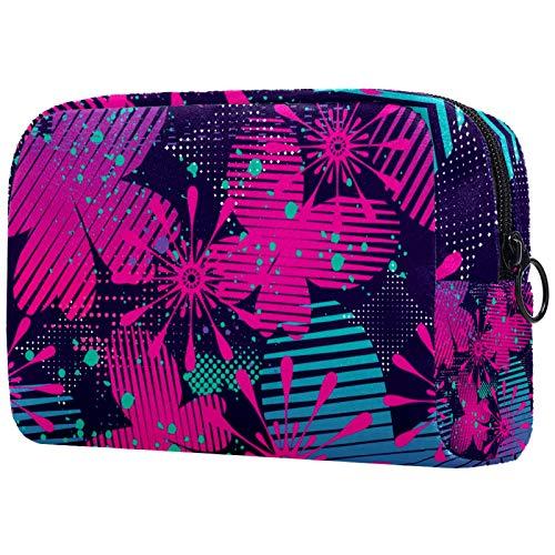 Bolsa de cosméticos para mujer, diseño abstracto floral mariposa, bolsas de maquillaje, accesorios organizador de regalos