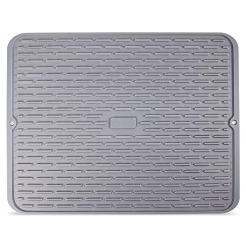 Adoric Non-Slip Silicone Dish Drying Mat, Dishwasher-Safe and Heat-Resistant Dish Tray