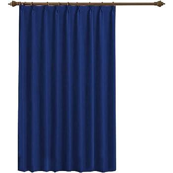 LEEPWEI 遮光カーテン カーテン 1級 ドレープカーテン 幅150cm丈178cm 1枚 ブルー遮光 断熱 防寒 防音 目隠し UVカット おしゃれ タッセル&フック付き