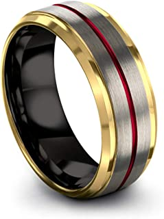Best red gold mens wedding band Reviews