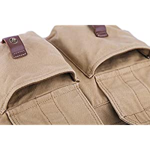 51IYytbBl+L. SS300  - Gootium lona de la vendimia bolsa de mensajero / hombro hombres de bolso, de 32 cm, de color caqui