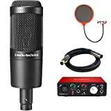 Audio-Technica Cardioid Condenser Microphone (AT2035) with Focusrite Scarlett Solo USB Audio...