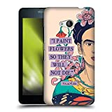 Official Frida Kahlo I Paint Flowers Sketch Hard Back Case