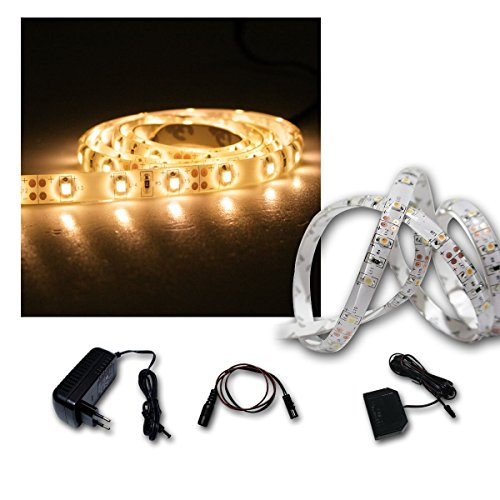 LED Lichtband Set 5x1m warmweiß + Trafo SMD-Stripe