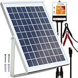 POWOXI 10W Solar Panel,12V Solar Panel Charger Kit + 8A Controller, Suitable for Automotive, Motorcycle, Boat, ATV, Marine, RV, Trailer, Powersports, Snowmobile etc. Various 12V batteries.