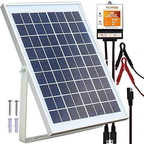 POWOXI 10W Solar Panel,12V Solar Panel Charger...