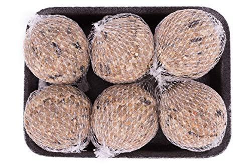 Pfiffikus Insektenknödel Meisenknödel Insekten mit Netz 6 Stück | Hochwertiges Wildvogelfutter zur Ganzjahresfütterung heimischer Vögel | 100% Made in Germany | Vogelfutter für Futterspender