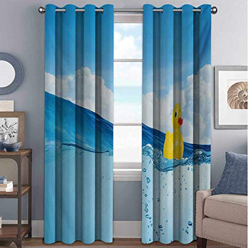 Buy Discount Annery Rubber Duck Shading Insulated Curtain Little Duckling Toy Swimming in Pond Pool ...
