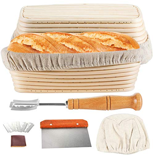 TAOUNOA Oval Bread Proofing Basket