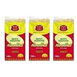 Noodles al huevo al estilo Chino 500g - Pack de 3 unidades