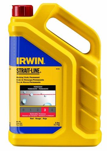 IRWIN STRAIT-LINE Marking Chalk, Standard, Red, 5 lbs (65102)