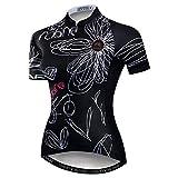 Weimostar Damen Radtrikot Sommer Fahrrad Trikot Kurzarm Fahrrad Shirts 3 Pocket Reflective ZC71-A2-Brust für 88 -92CM = Tag M.