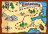 Sophies Kartenwelt 12 Einladungskarten Kindergeburtstag Pirat / Geburtstagseinladungen Kinder Jungen Mädchen / Einladungen Piratenparty