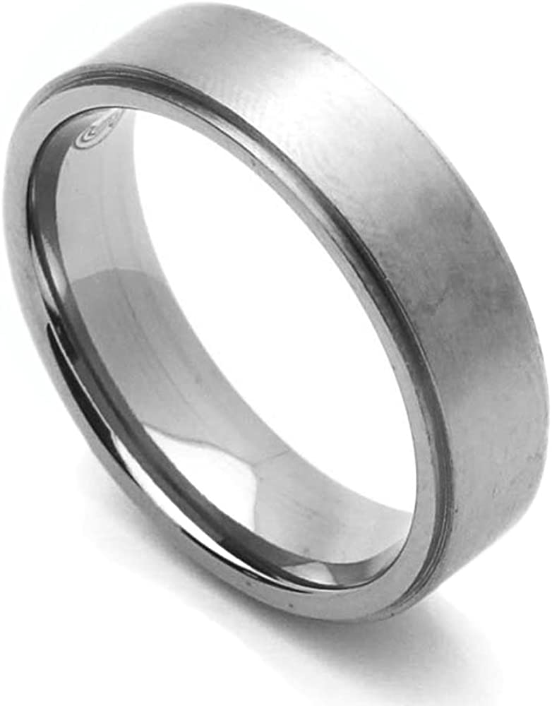 Double Accent Custom Engraving 6MM Fit Comfort Limited price sale Titanium outlet Wedding