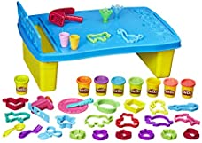 Play-Doh Play 'N Store Kids Play Table for Arts & Crafts Activities with 8 Non-Toxic Colors, 2 Oz Cans (Amazon Exclusive)