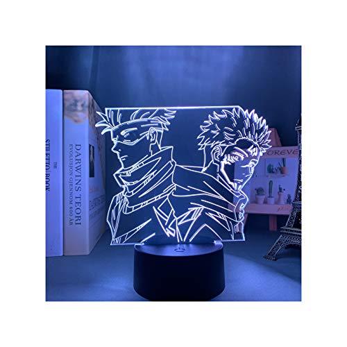 HOKVJ Lámpara De Anime Satoru Gojo Jujutsu Kaisen, Luz De Noche Led Yuji Itadori para Niños, Regalos, Decoración De Dormitorio, Regalo De Cumpleaños, Lámparas De Mesa Jujutsu Kaisen