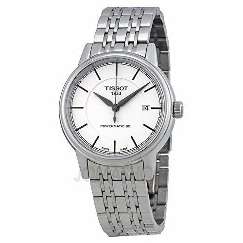 Gifts and Jewels Co. Tissot TissoT T classico PowermaTic AuTomaTico Bianco QuadranTe Acciaio inox Acciaio Mens Orologio T0854071101100