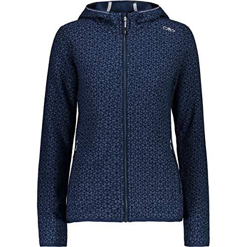CMP Woman Fix Hood Jacket Knitted 31H8336 Größe 42 Blue M926
