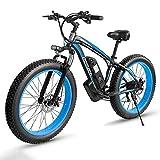 26' Fat Bike Elettrica, Bici Elettrica 1000W con Batteria Al Litio 13Ah, cambio Shimano a 21...
