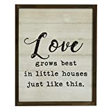 NIKKY HOME 16' X 20' Wooden Framed Wall Plaque Sign with Inspirational Love Quote