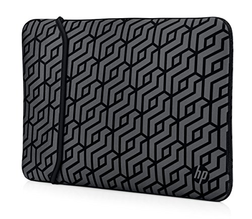 HP Sleeve Case for Laptops grey Pattern: black/silver. 15,6 Zoll