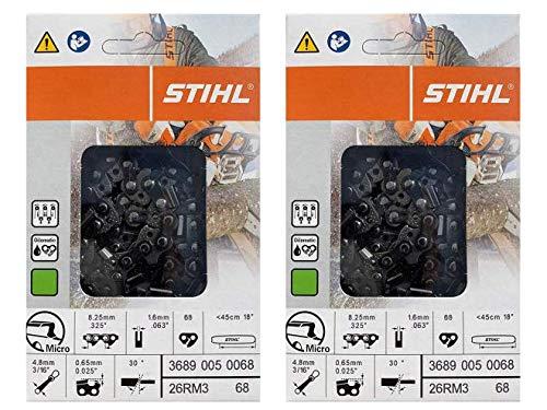 Stihl 2 Pack 26RM3 68 Drive Links Rapid Micro Chainsaw Chain 18