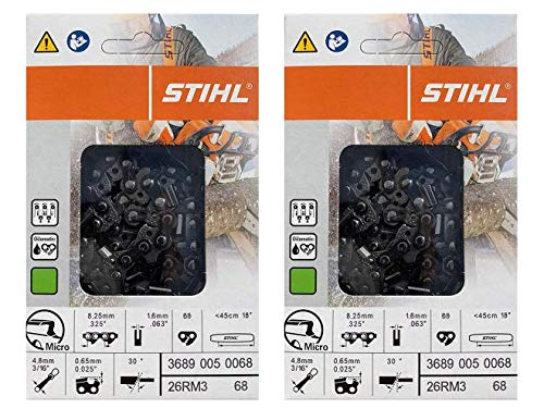 Stihl 2 Pack 26RM3 68 Drive Links Rapid Micro Chainsaw Chain 18