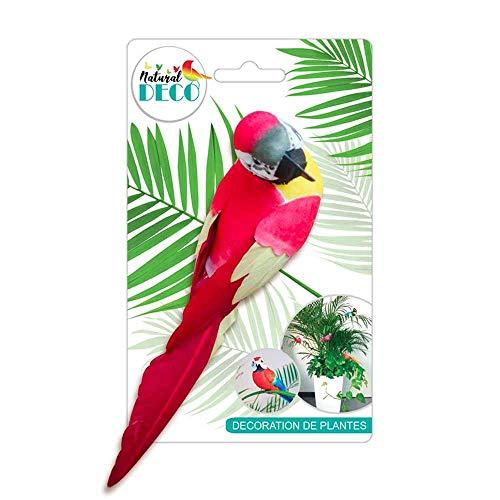 STC Déco Plantes – Grand Oiseau Rouge CD3823