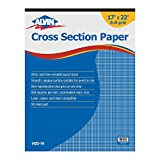 Alvin, Graph Paper, 50-Sheet Pad, 8 x 10 Inches Grid, 17 x 22 Inches