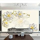 3D Floral Wallpaper Photo Murals Living Roomcustom Wall Murals Rollo De Papel para Pared 3D Papier Peint Papel Tapiz 3D Modernos -450Cmx300Cm