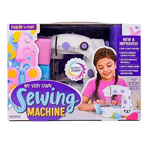 Made By Me My Very Own Sewing Machine by Horizon Group USA, Sewing Machine for Kids, Includes Needle Threader, Measuring Tape, 3 Spools of Thread, Illustrated Instructions & More, Multi