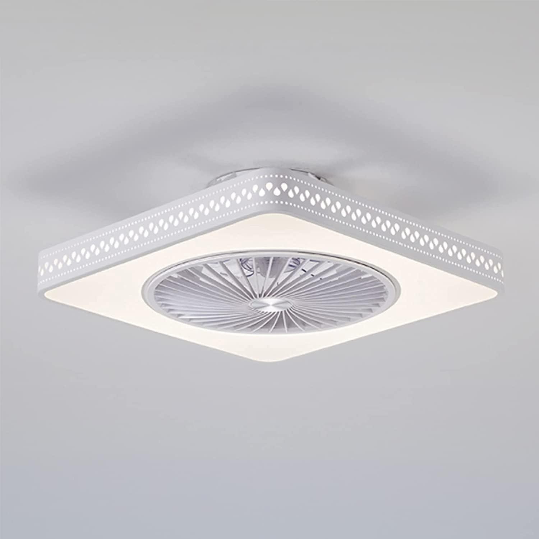 Luces de ventilador de techo LED de techo, ventiladores de techo silenciosos interior con luz, atenuación inteligente y ajuste de viento, ventilador de techo moderno luces de color blanco