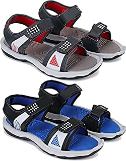 Camfoot Comfortable Pack of 2 Casual Sandals & Floater for Men (Combo-(2)-1867-1868)