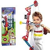 BAKAJI Set Arciere per Bambini con Arco Composito 3 Frecce a Ventosa
