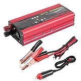 Duokon 2000W inversor de corriente para automóvil Cargador USB Adaptador convertidor de onda sinusoidal modificada DC 12V / 24V a CA 220V
